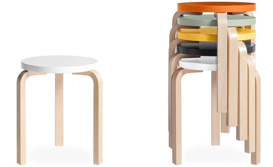 stool 60 alvar aalto artek plywood design ideas